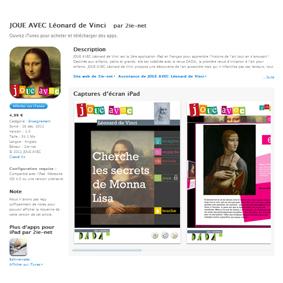 SORTIE 1ère application JOUE AVEC Leonard de Vinci