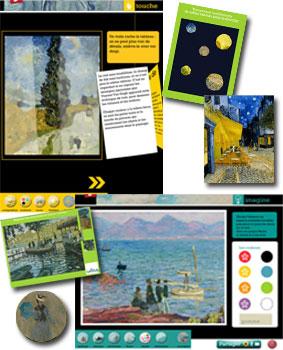 Applications JOUE AVEC Vincent van Gogh et JOUE AVEC Claude Monet